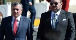Moroccan King Mohammed VI (C) walks alongside Jordan's King Abdullah II during a welcome ceremony at the Royal Palace in the Moroccan city of Casablanca on March 11, 2015. King Abdullah II is on an official visit to the country. AFP PHOTO / FADEL SENNA        (Photo credit should read FADEL SENNA/AFP/Getty Images)