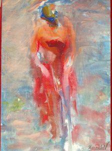 لوحة البحر للرسامة زينب النفزي