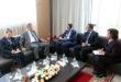 Mohamed Abdennabaoui reçoit le ministre tunisien de la justice, Ghazi Jeribi