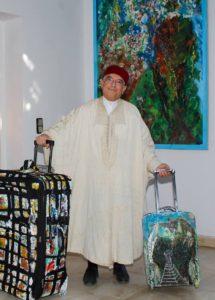 الحقائب الملونة للفنان الشريف باتجاه كندا